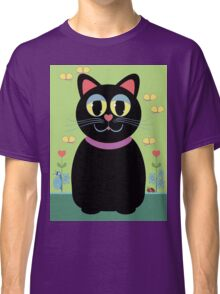 Cat, Butterflies, Lady Bug and a Snail Classic T-Shirt