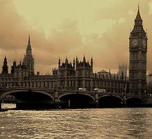 River Thames Sepia by saggiemick