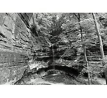 B&W St. Louis canyon Waterfall Photographic Print