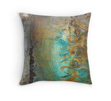 Baroque Dreams - aqua Throw Pillow