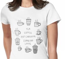 Hot beverages  Womens Fitted T-Shirt