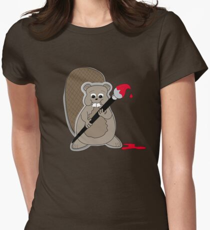 Beaver T Womens Fitted T-Shirt