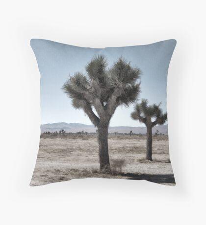 GRAY DESERT LAND Throw Pillow