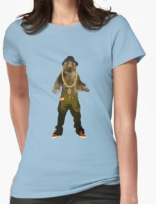 GANGSTA BEAR Womens Fitted T-Shirt