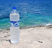Athos water on Arkoudaki beach, Paxos by David Fowler