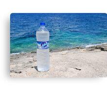 Water bottle, Arkoudaki beach, Paxos Canvas Print
