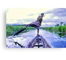 Leg rower, Inle Lake, Burma Canvas Print