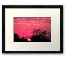 "THE ""HALO"" SUNSET Framed Print"