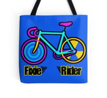 Fixie Rider Tote Bag