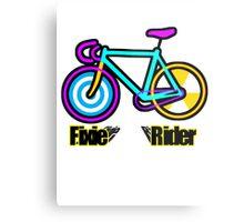Fixie Rider Metal Print