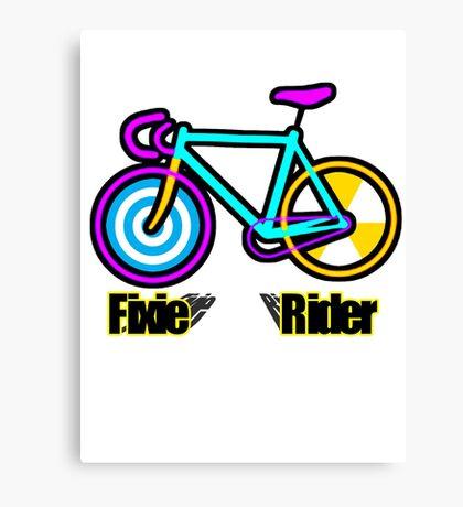 Fixie Rider Canvas Print
