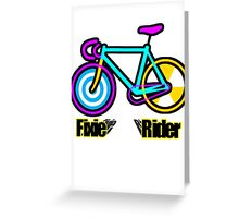 Fixie Rider Greeting Card
