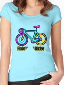 Fixie Rider Women's Fitted Scoop T-Shirt