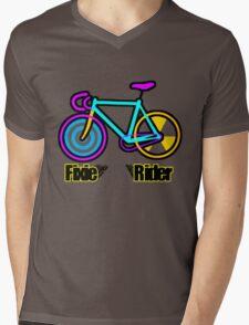 Fixie Rider Mens V-Neck T-Shirt