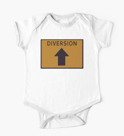 Diversion above road sign One Piece - Short Sleeve