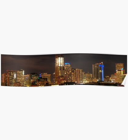 Denver Nightscape Panorama Poster
