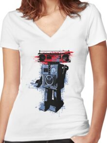 Soundroid Women's Fitted V-Neck T-Shirt