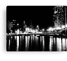 city in black & white... Canvas Print
