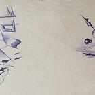 Drawing - fantasy, mural design, 1992 by Igor Pozdnyakov