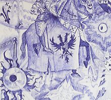 Guardian Angel. Fantasy Drawing 1991 by Igor Pozdnyakov