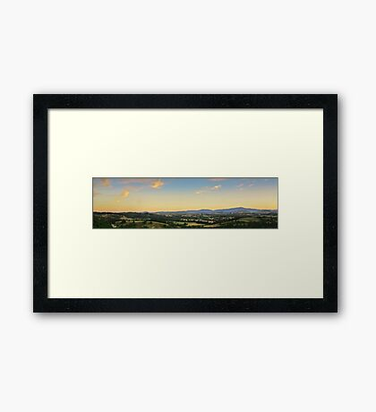 Brushy Cutting Lookout Panorama HDR Framed Print