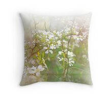 Fleurs d` un Ruisseau Throw Pillow