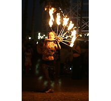 Fire dance 1 Photographic Print
