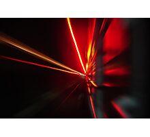 Red streaks Photographic Print