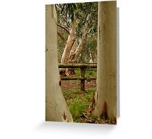 Old Cattle Yard,Davies High Plains.Victorian High Country Greeting Card