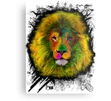 OCD LION HEAD Metal Print