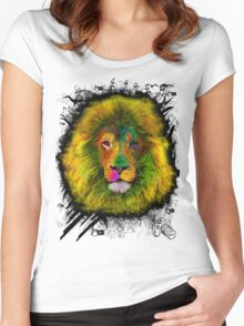 OCD LION HEAD Women's Fitted Scoop T-Shirt