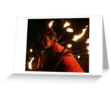 Fire dance 4 Greeting Card