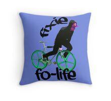 Fixie for life Throw Pillow