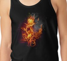 ROSES ARE RED, VIOLETS ARE BLUE, THIS ROSE IS ON FIRE AND SO ARE YOU! Tank Top