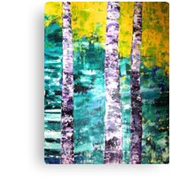 Imperial Yellow and Jade Green with Static Runners  Canvas Print