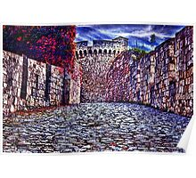 The Romantic Road Fortress Kalemegdan Belgrade Poster