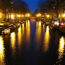 Amsterdam Channel Lights by Jason Bran-Cinaed
