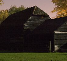 Moonlit black barn by woolleyfir
