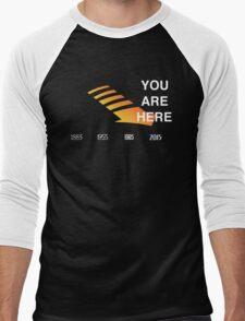 Back to The Future Timeline  Men's Baseball ¾ T-Shirt