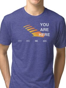 Back to The Future Timeline  Tri-blend T-Shirt