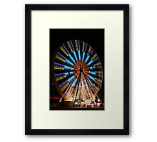 Ferris Wheel lights. Framed Print