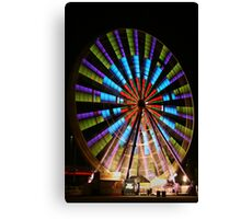 Ferris Wheel lights. Canvas Print