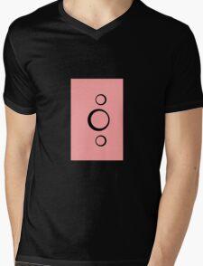 Abstract Circles Mens V-Neck T-Shirt