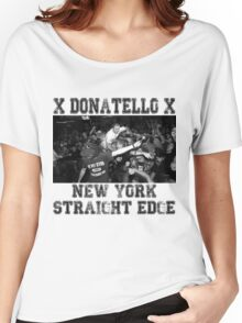 x DONATELLO x Straight Edge Women's Relaxed Fit T-Shirt