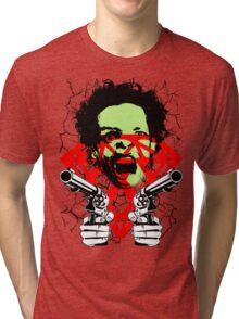 FUCKIN LIVIN CRAZY MAN Tri-blend T-Shirt