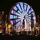 Ferris Wheel lights Two. by Steve Chapple