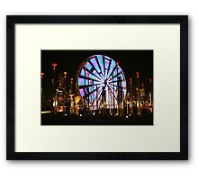 Ferris Wheel lights Two. Framed Print