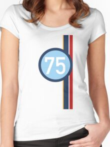 '75' Racing number with RAF roundel colour stripes Women's Fitted Scoop T-Shirt