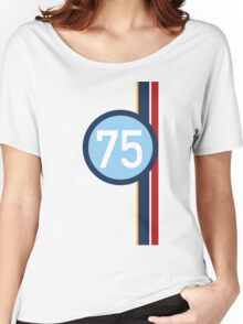 '75' Racing number with RAF roundel colour stripes Women's Relaxed Fit T-Shirt
