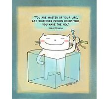You have the key ... / Cat doodle Photographic Print